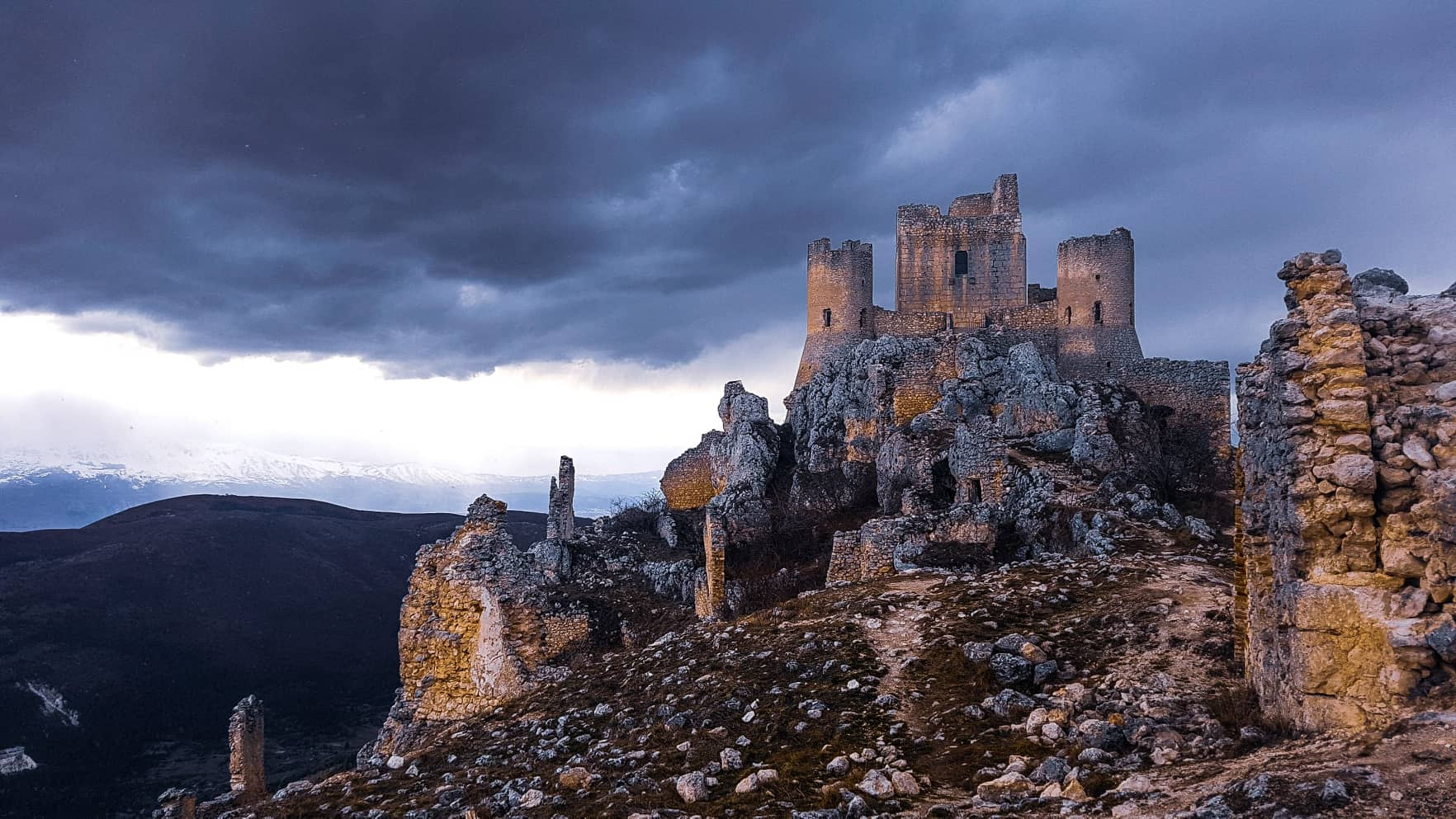 Il Castello di Rocca Calascio.