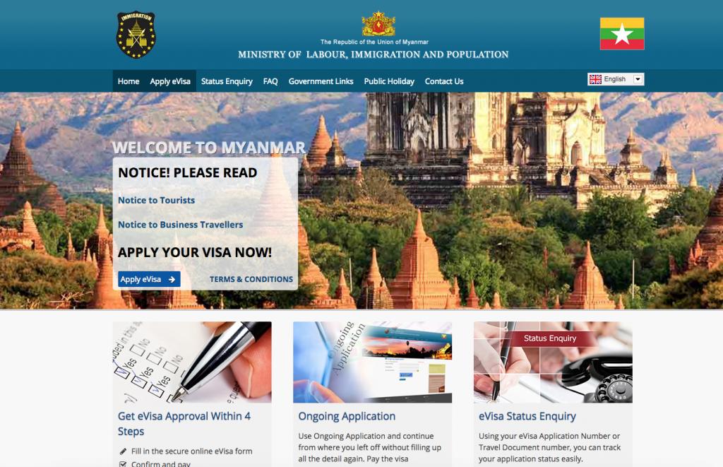 Visto d'ingresso per il Myanmar come richiederlo
