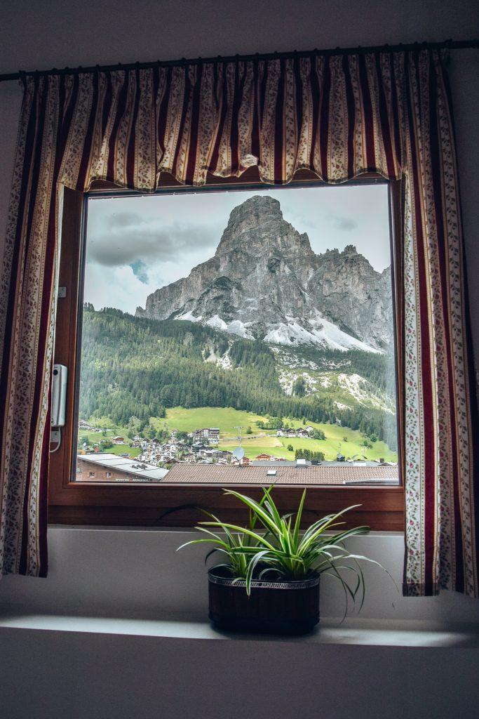 La vista dalla finestra del corridoio Pensione Veneranda