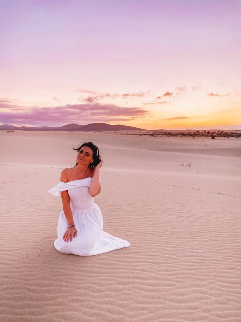 Dunas de Corralejo at sunset